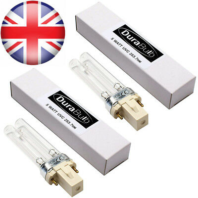 DuraBulb Twin Pack Replacement 5W UV (Ultra Violet) Bulb Lamp for Pond UVC...