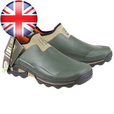 Rouchette Unisex Slip On Gardening Shoes, Green, Clogs For Garden Work UK 9