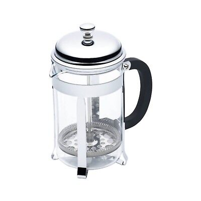 KITCHENCRAFT leXpress 6 Cup/850ml Classic Chrome Cafetiere/Plunger Coffee Making