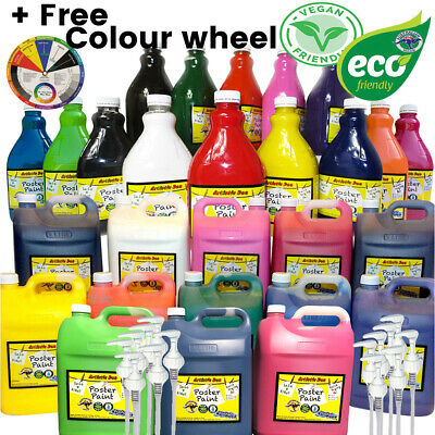 Kids Paint Set Kids Craft Paint Set Washable  Poster Paint 2L & 5L + FREE GIFT