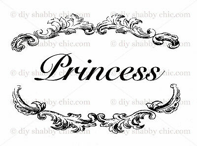 Furniture Decal Image Transfer Vintage Queen Prince Princess Royal Kids Girls