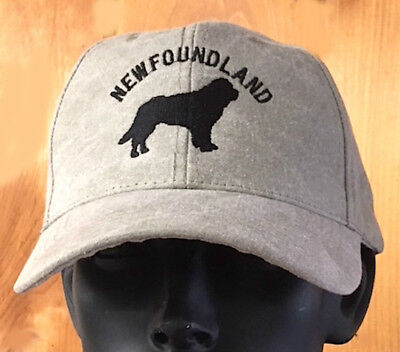 SALE! COOL NEW Newfoundland Dog Tan Stone Washed Cap- Supports Newfie Dog Rescue