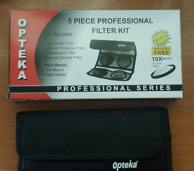 Opteka 5 piezas professional Filter Kit 62mm.