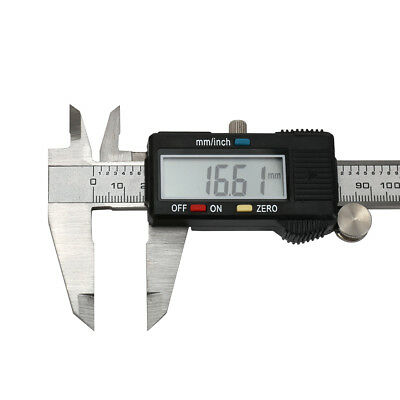 """Stainless Steel Electronic Digital Vernier Caliper Micrometer Guage LCD 6"""" 150mm"""