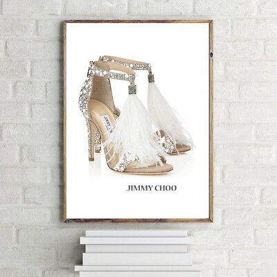 CHOO Ostrich Feather SHOES PRINT A4 POSTER PRINT WALL HANGING DESIGNER