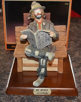 Flambro Emmett Kelly Jr. Big Business Limited Edition 3193 Of 9500