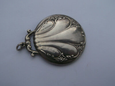 Antique 1921 Hallmarked sterling silver Mirror pendant by Crisford & Norris