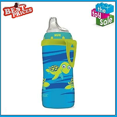 NUK Blue Turtle Silicone Spout Active Cup 10-Ounce Sippy Cups Mugs Dishes Baby
