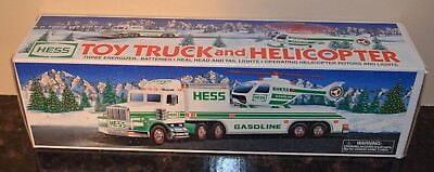 1995 HESS Toy Truck and Helicopter - New In Box