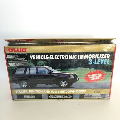 CLUB VEHICLE ELECTRONIC IMMOBILIZER 3 LEVEL Car Ignition Fuel Shutdown Device