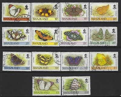 Swaziland 1992 Butterflies Sg#606-19 Val $23 Definitive Complete Vfu Set 2926