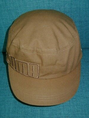 cf11137e PUMA CADET HAT Women's Athletic Cap Brown Military Soccer Golf Summer ONE  SIZE