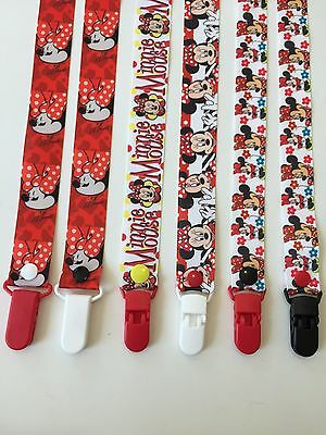 Handmade Pacifier Holder - Disney - Minnie Mouse