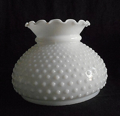 Antique cranberry red hobnail glass ruffled lamp shade 3 78 antique hobnail milk glass lamp shade6 78 fitter6 mozeypictures Gallery