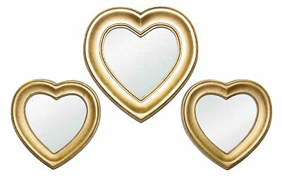 Hickory Manor House 3 Piece Heart Wall Mirror Set