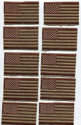 Lot of 10 US Army American Flag Desert Tan DCU Military Combat Patch