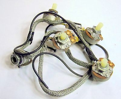 1966 Supro Airline National Wiring Harness w CTS Pots Carter Jack Valco USA Made
