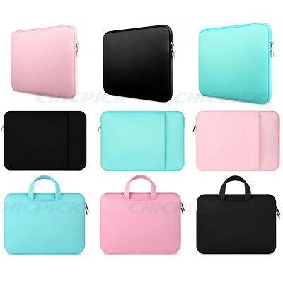 "11""-15"" Notebook Laptop Hand Bag Sleeve Cover Case For Macbook Mac Air Pro  Dell"