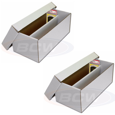 (2) BCW GRADED SHOE BOX for Graded Cards (PSA BECKETT) Sports Card Storage Boxes