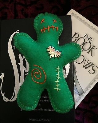 Voodoo Doll.  Handmade Large Size Green Witches Poppet Doll. Witch Pagan Spells