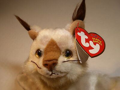 Ty Beanie Baby Tracks, Lynx Cat (2001) Plush Toy Excellent Condition with Tags