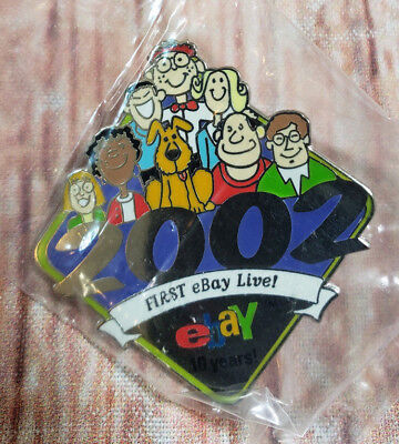 2002 First eBay Live 10 Years Collectible Pin NEW