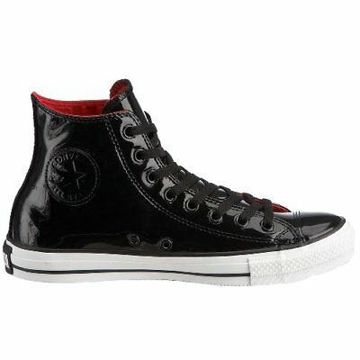 a301d6c68c99 Converse 111131 Black Mens Sz 9 Sneakers Leather Patent Hi Top Sneaker All  Star
