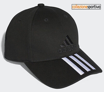 CAPPELLINO CAPPELLO ADIDAS SIX-PANEL CLASSIC 3-STRIPES - S98156 col. nero/bianco