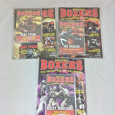 Collectable Boxing Magazines Deagostini Boxers Mike Tyson Joe Frazier Rocky