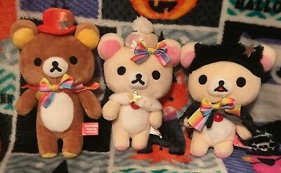 Rilakkuma Plush San-x Happy Rainbow Lot USA SELLER