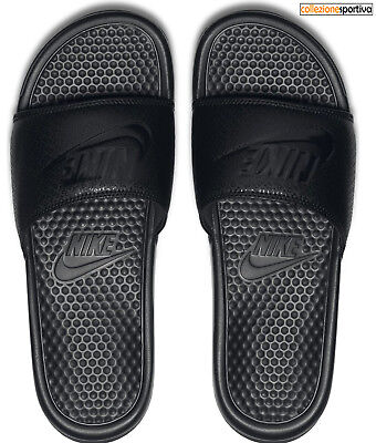 CIABATTE INFRADITO UOMO/DONNA NIKE BENASSI JUST DO IT-343880-001 col.nero/nero