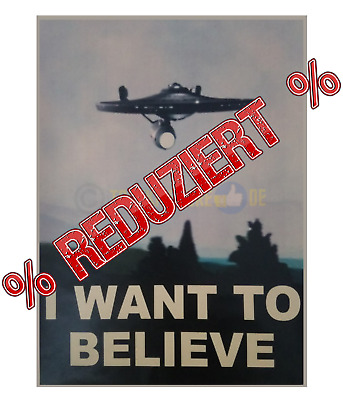I Want to believe, Retro Poster, Poster, Star Trek Poster, Star Trek I Want to