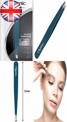 Professional Eyebrow Tweezers Precision Slant Tip 2.0 BLUE (Improved Model)...