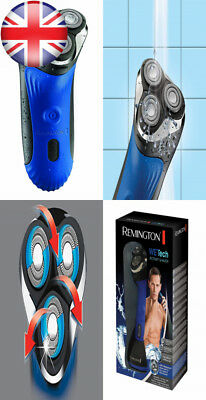 Remington AQ7 Wet Tech and Dry Rotary Electric Shaver - Black/Blue