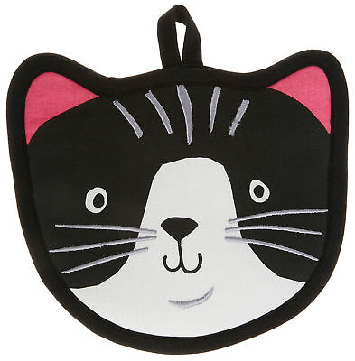 Kay Dee Designs Crazy Cat Shaped Oven Mitt One Size Black/white