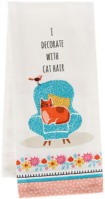 Kay Dee Designs Crazy Cat Cat Hair Tea Towel One Size White/blue/pink/orange