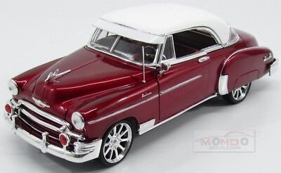 Chevrolet Chevy Bel Air Custom 1950 Red Met White MotorMax 1:18 MTM79007RM