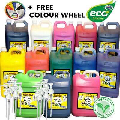 Kids Paint Set Poster Paint  5L Eco Kids Washable Kids Paint School Paint Pumps