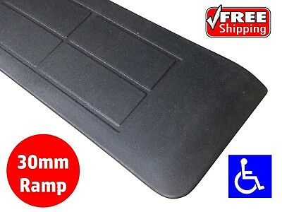 RUBBER THRESHOLD RAMP 30mm WHEELCHAIR ACCESS DISABILITY DOOR STEP WEDGE