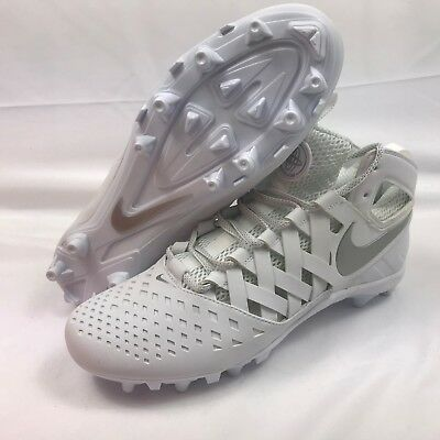Nike Huarache V Lax Lacrosse Cleats Men's Size 10 White 807142-100
