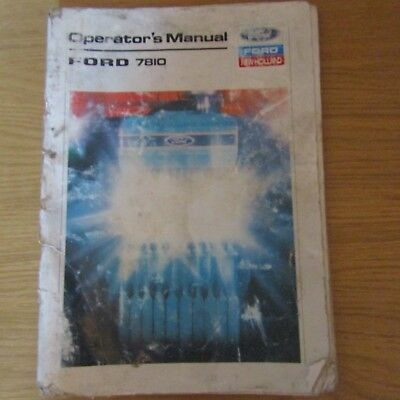 FORD 7810 Tractor ORIGINAL Operators Owners Manual Book ~ March 1988
