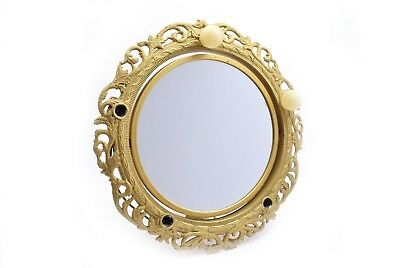 Vintage Gold Two Sided Lighted Mirror Metal Tex Inc