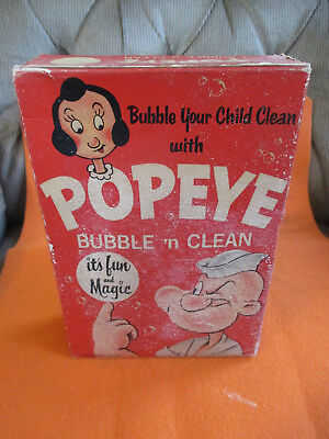 Popeye Bubble'n Clean-Set King Features Syndicate Bubble Bath.  1930-1940's