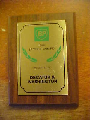 "Vintage BP ""1996 Sparkle Award,"" for BP Station in Sandusky, Ohio"