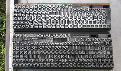 24pt Stephenson Blake Caps & Small Caps 'Spartan Extra Bold' Letterpress Type
