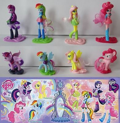Serie Completa My Little Pony Fs292 - Fs299 + 8 Bpz Germania Kinder 2015/2016