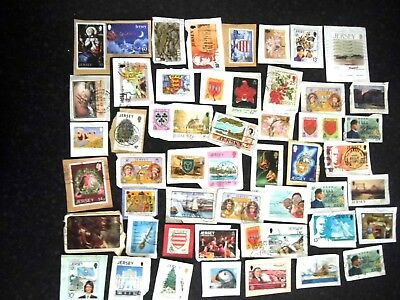 Collection LOT of JERSEY stamps USED on paper CHANNEL ISLANDS bulk lot