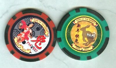Palms-Playboy Casino (Las Vegas) (Two) (Nd) Chips (D0755-65) (New) (Tcr 18 Rated