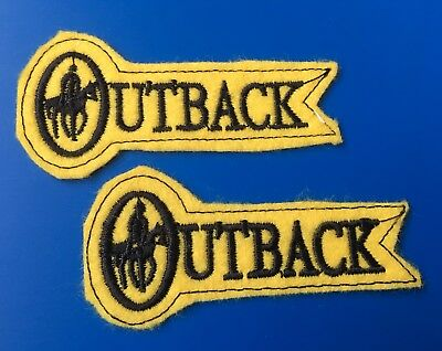 2 Outback Gear Hiking Camping Outdoors Small Peel N Stick Patches