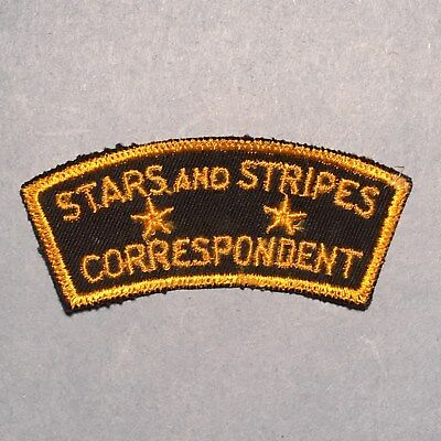 WWII U.S. Stars and Stripes Correspondent Patch Tab - Embroidered on Twill